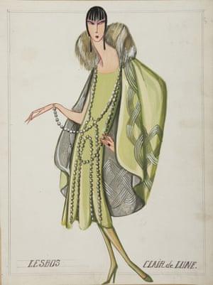 Lesbos dress sketch