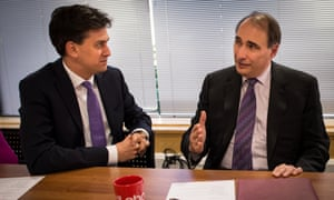 Ed Miliband with David Axelrod.
