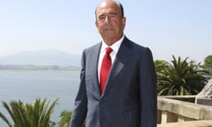 Santander's late chairman Emilio Botín at his home in Spain in June 2008. Members of the family paid €200m (£150m) in back taxes to the Spanish government.
