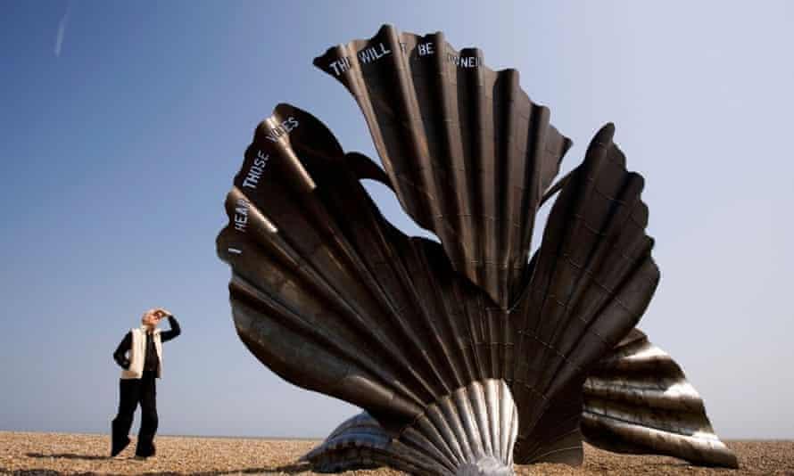 Maggi Hambling's sculpture Scallop, Aldeburgh