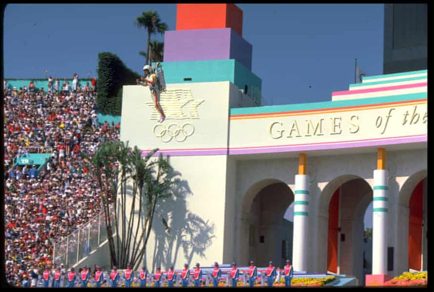 Jon Jerde jetpack Olympics in Los Angeles