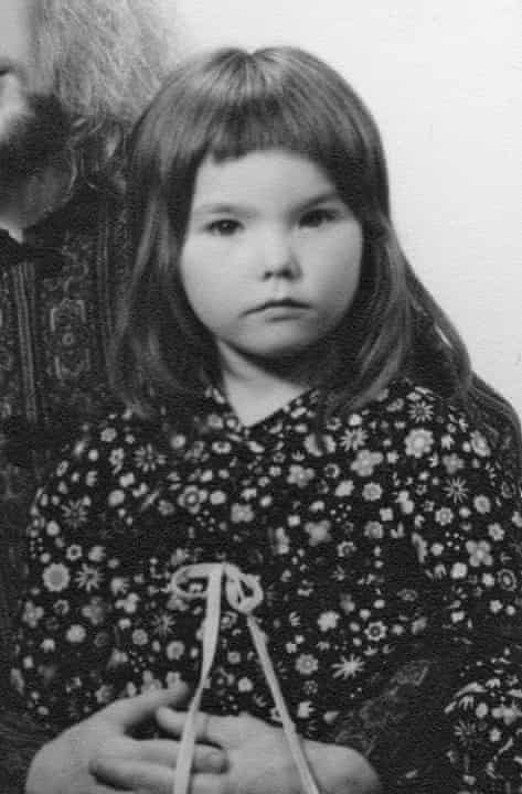 A snapshot of Björk as a child.