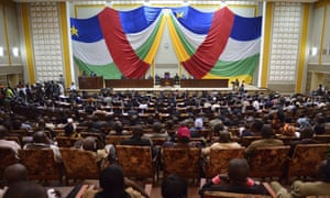 The National Transitional Council in session on 20 January in Bangui for the election of an interim president of CAR. The mayor of Bangui, Catherine Samba-Panza, was elected.