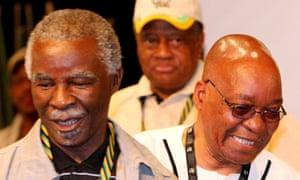 Thabo Mbeki and Jacob Zuma in 2007.