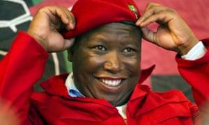 Economic Freedom Fighters leader Julius Malema.