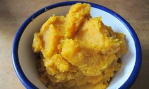 Orange-fleshed sweet potato mash