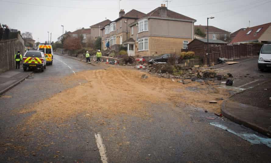 Tipper truck crash in Bath