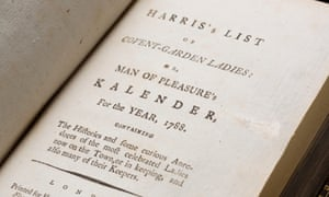 Harris's List of Covent Garden Ladies, or Man of Pleasure's Kalender, 1788 edition.