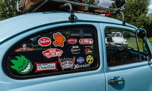 VW beetle decorated with stickers