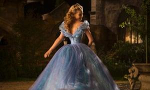 Cinderella film still with Lily James.
