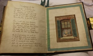Pages of poems written by Charles Dickens in the album of Maria Beadnell.