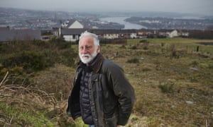 David Best in Derry, close to where his new temple will be erected.
