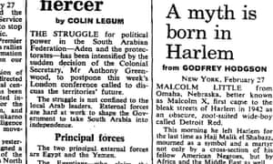 Malcolm X funeral, Observer 28 February 1965