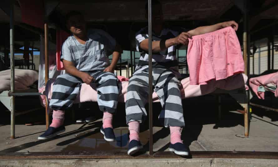At a prison in Arizona, inmates were issued with pink underwear.