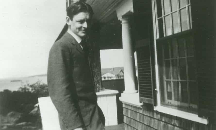 TS Eliot at his house 18 Edgemoor in Gloucester, Massachusetts.
