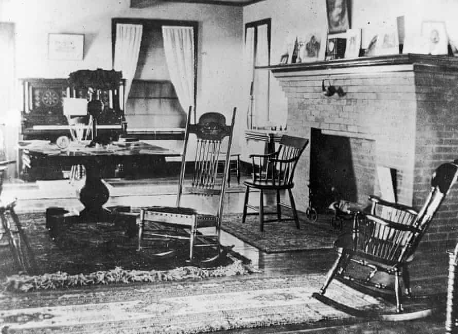 Interior of the house at Eastern Point.