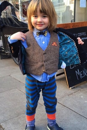 Two-year-old Horatio, son of Melanie Rickey and Mary Portas