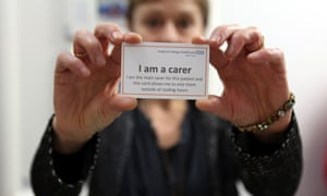 One of the John Campaign's 'passports' to allow carers in to hospital outside visiting hours.