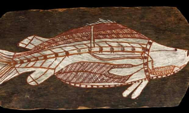 A bark painting of a barramundi, West Arnhem Land, that will feature in an upcoming British Museum exhibition.