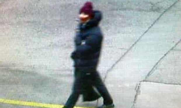 A photo issued by Danish police showing a suspect in the Copenhagen shooting