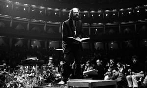 Allen Ginsberg at the Albert Hall in 1965.