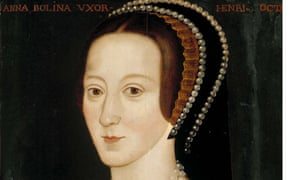 Reproduction of a portrait of Anne Boleyn in the National Portrait Gallery.