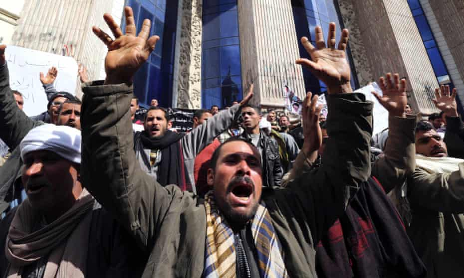 Egyptian protest Coptic Christians