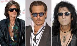 Johnny Depp Joe Perry Alice Cooper