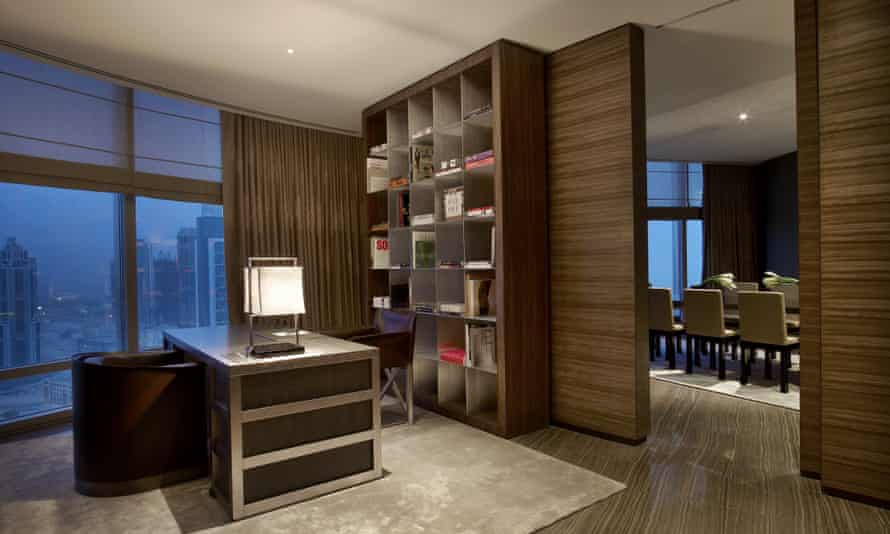 The Armani-designed interior for World One Tower.