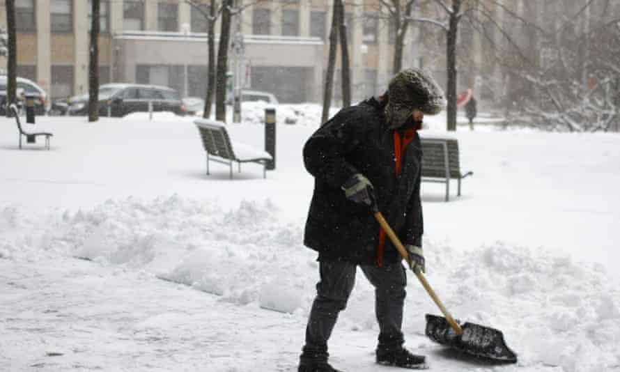Bratislava city in snow
