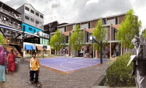 Transforming squares into neighbourhood centres in Dharavi.