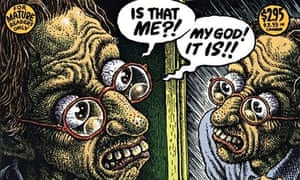 Robert McCrumb's self-portrait in 1994 for the first issue of Self-Loathing Comics.
