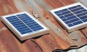 OAF sells solar lights to farmers.