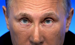 Vladimir Putin speaks during his annual press conference in Moscow.