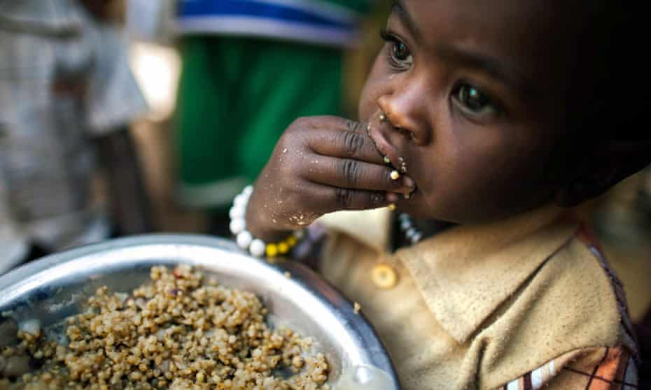 A Sudanese child in camp for displaced people in North Darfur.