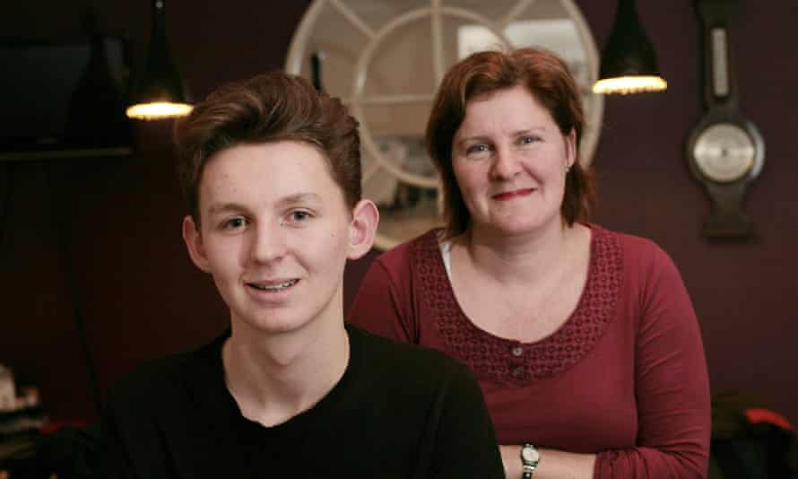 Alec Denniff with his mother, Alison