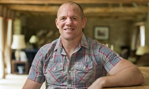 Mike Tindall sitting at a high table