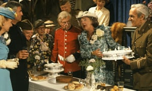 Pamela Cundell, centre, as Mrs Fox in Dad's Army.