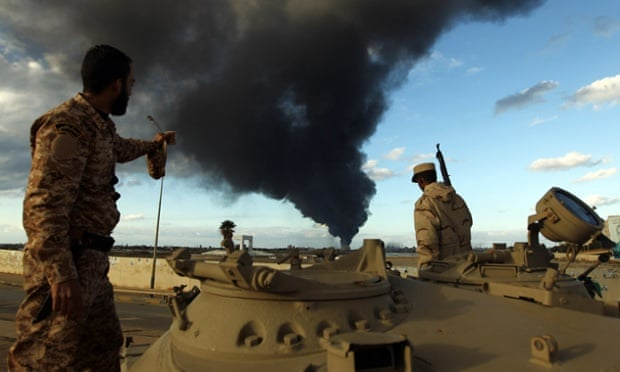 The Libyan army after clashes with Islamist gunmen in Benghazi in December.