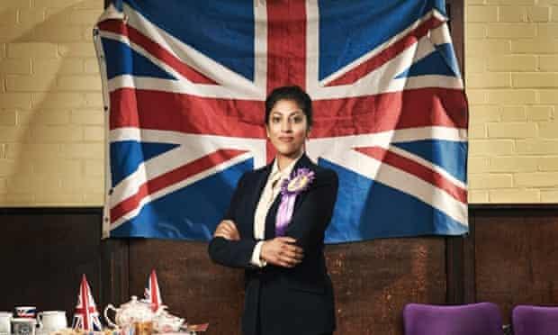 Priyanga Burford as Deepa Kaur, Ukip's newly elected fictional MP for Romford in Ukip: The First 100 Days.