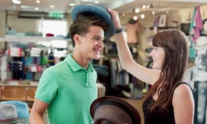 shopping for hats in store