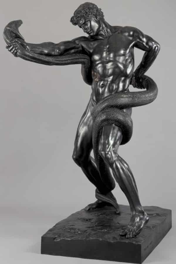 An Athlete Wrestling With a Python by Frederic Leighton