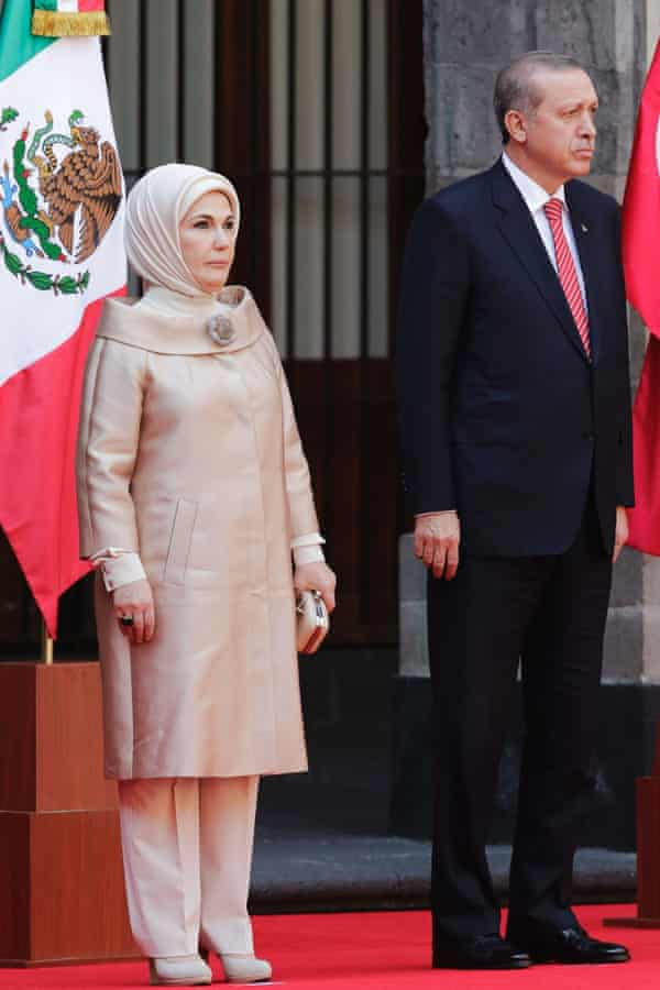 Recep Tayyip Erdoğan and his wife Emine Erdogan. The president has called violence against women the 'bleeding wound' of Turkey.