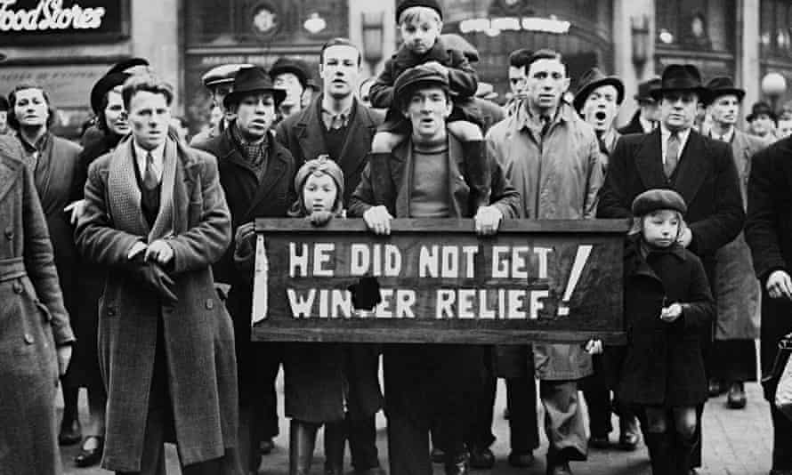 Labour Demonstration In England During The Thirties