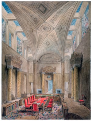 Soane's scheme for the Privy Council Chamber … 'magnificent and suited to such an assemblage as the Lords of the richest Treasury probably in the world,' as one observer put it.