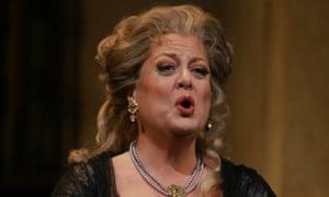 Deborah Voight as Leonora in La Forza del Destino at her spiritual home, New York's Metropolitan opera.
