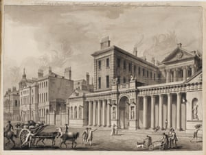 Engraving of Robert Adam's Admiralty Screen, sold in the form of prints and postcards, which inspired imitation knock-offs.