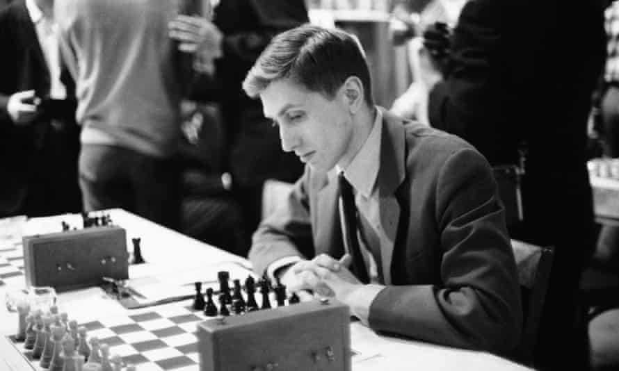 Bobby Fischer at the US chess championship tournament in New York in 1965.