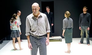 Mark Strong, centre, in A View from the Bridge at Wyndham's theatre