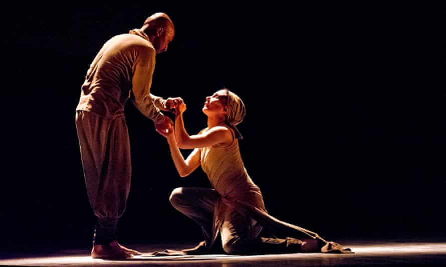 Tamara Rojo and Akram Khan in Dust from Lest We Forget by ENB at the Barbican, London.